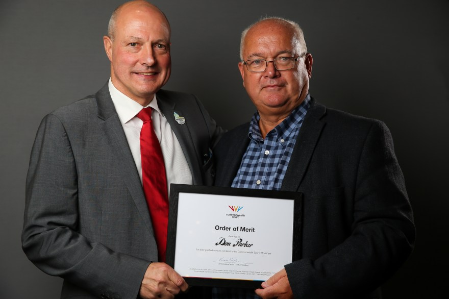 Don Parker awarded Commonwealth Sport Order of Merit 2019