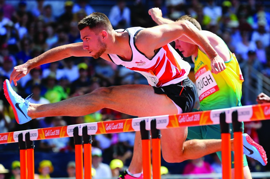 Pozzi in pole position in hurdles final