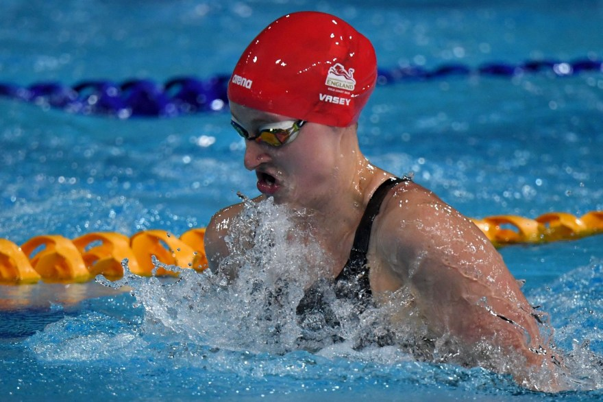 Vasey wins England's first medal of the day