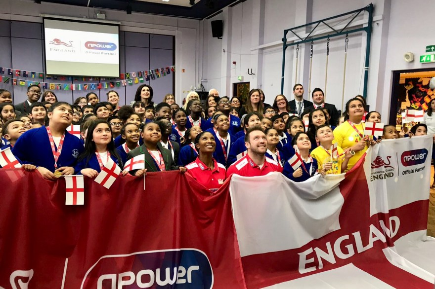 Denise Lewis OBE and npower inspire school children to support Team England