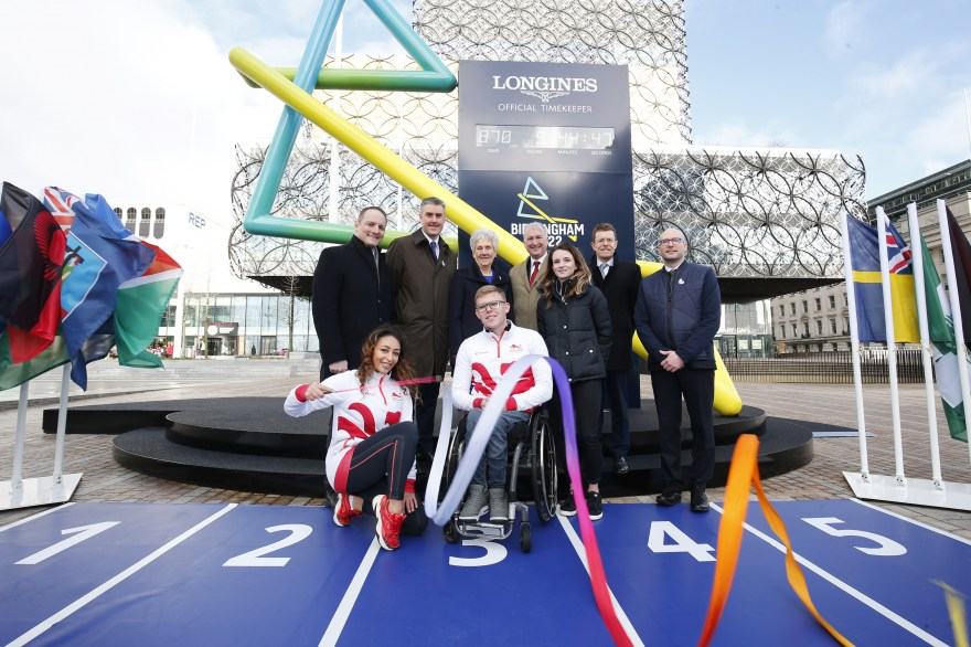Team England athletes help unveil historic Birmingham 2022 Countdown Clock on Commonwealth Day