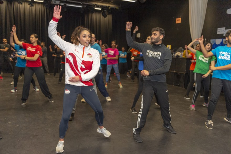 Birmingham gymmast Mimi-Isabella Cesar visits Bhangra fitness class as excitement grows for 2022 Games