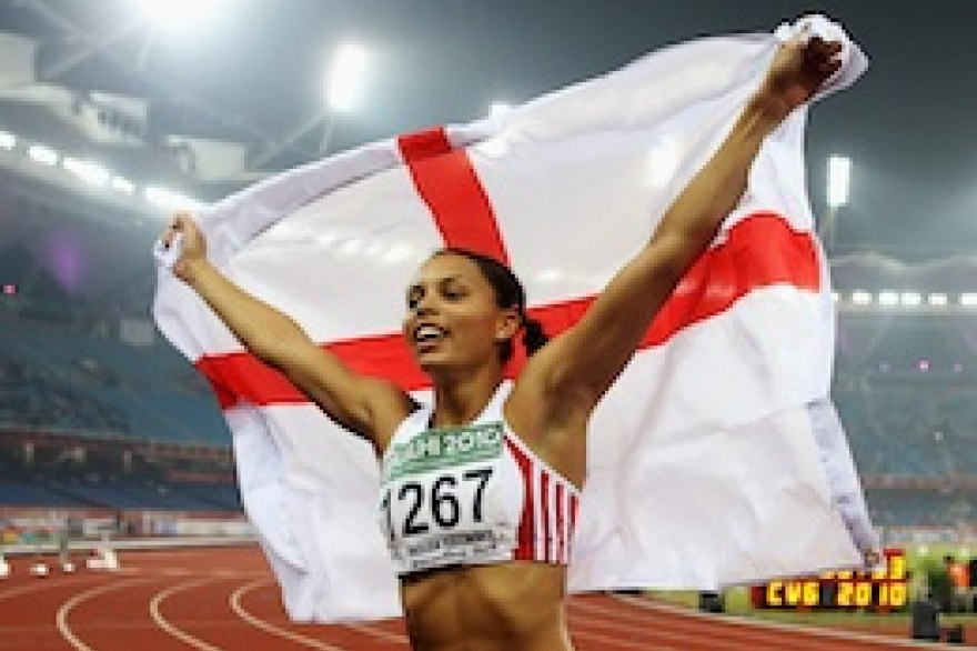 Athletics: Golden girl Louise Hazel lessens sorrow for Jessica Ennis as Sotherton quits heptathlon