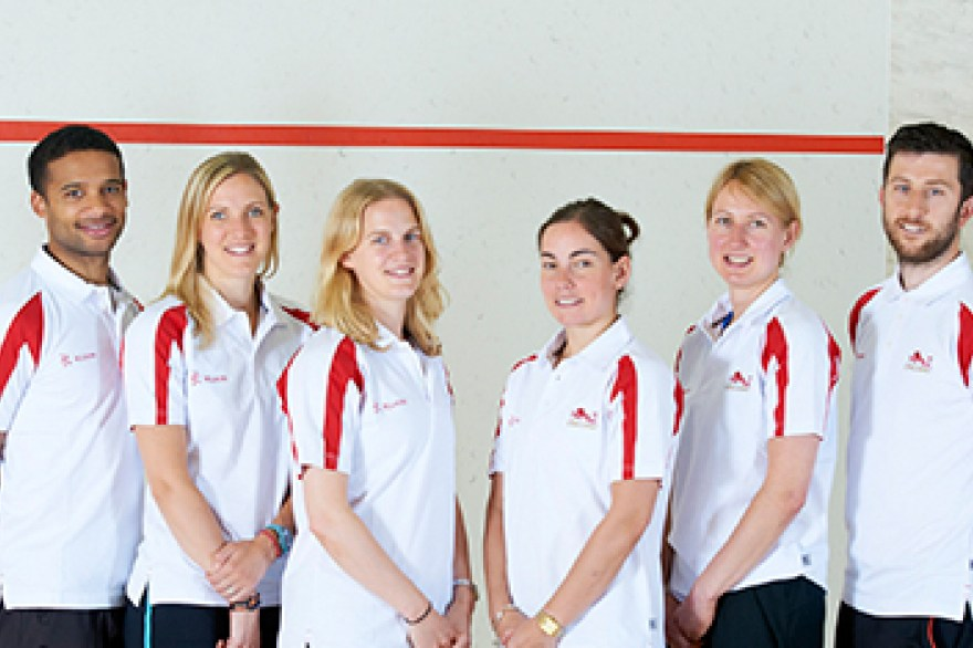 World champions named in England's squash team