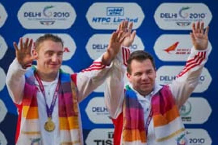 Shooting: Gold for trap pair, bronze for Huckle